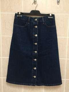 Top shop highwaisted denim skirt