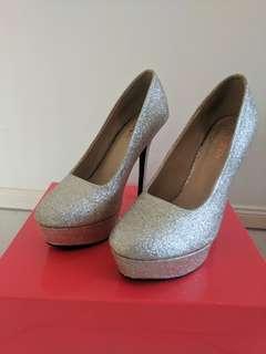 Glitter Gold Stilettos