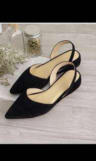 Erwina Suede black pointed shoes💓