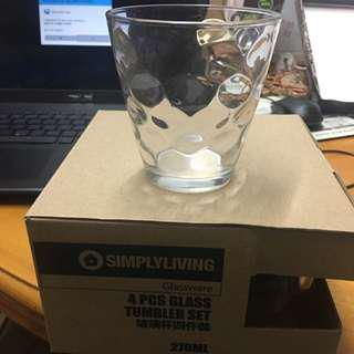 Simplyliving 4 Pcs Glass 玻璃杯 270ml