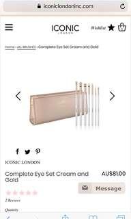 Iconic london makeup brushes + case