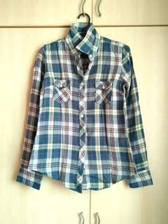 Checkered Shirt (click 'read more' below for measurement)