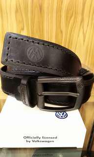 VOLKSWAGEN leather belt(40mm VWB637-1 BLACK)