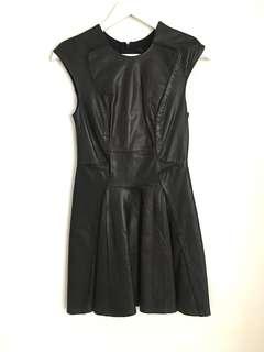 Ohne Titel Black Leather Dress