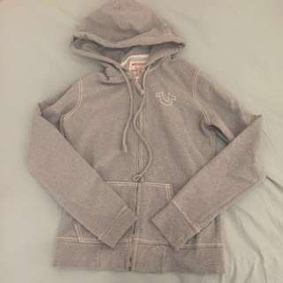 True Religion zip-up sweater
