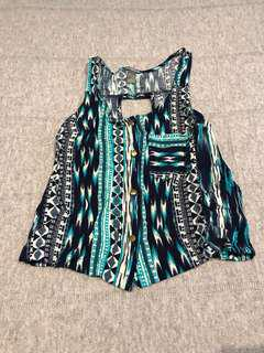 Charlotte Russe Pattern Top