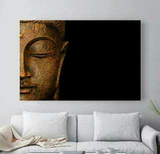 In stock - Golden buddha canvas painting