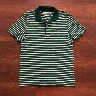 Authentic Lacoste Regular Fit Striped Polo Tee