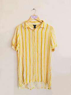 Forever 21 Yellow Striped Dress
