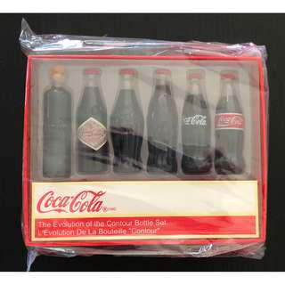 可口可樂曲線迷你瓶1套6枝Coca Cola The Evolution of the Contour Bottle mini set of  6 pieces