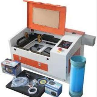 Laser machine 4030 engraving