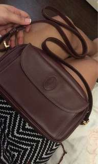 Cartier Maroon sling bag with dustbag