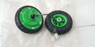 6 inch Electric scooter front rear wheel with 250w motor