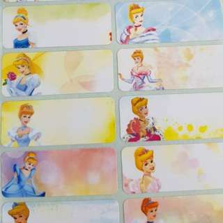 Cinderella Name Stickers