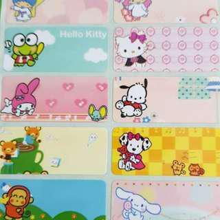 Sanrio Mix 1 name stickers