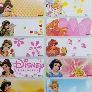 Disney Princess name stickers