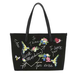 Love Moschino Jet'aime Canvas Tote (BSO)