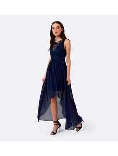 Forever new V neck navy maxi dress