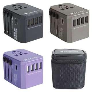 原裝行貨✅Verbatim 5 Ports 旅行充電器