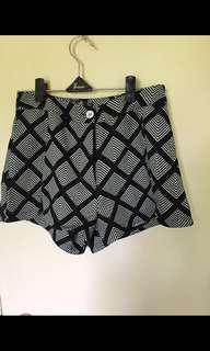 Monochrome shorts size 8