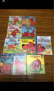 Kids books Clifford and curious george