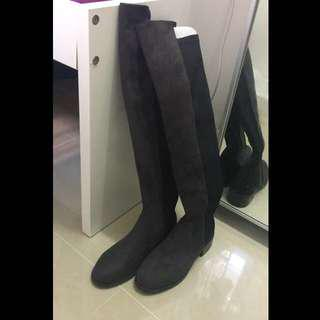Long Boots (grey x black)size 35