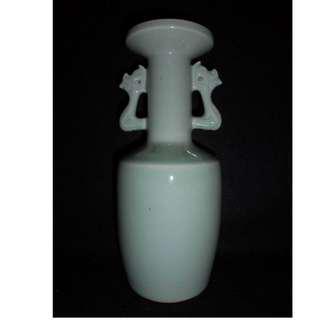 【龍泉青瓷研究所】絕版收藏珍品 粉青釉鳳耳瓶