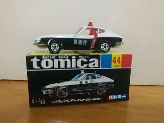 全新絕版tomica 黑黃盒 警視廳 Nissan fairlady 280z-t patrol car
