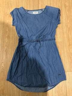 Lee cooper denim shift dress with waist drawstring