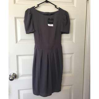 Topshop Brand New Size 8 Grey Dress