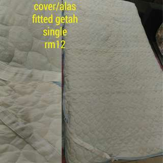 Mattress bed cover fitted rubber each side size single