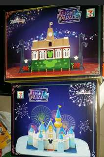 搬遷清貨大蝕賣 全新未開封 7-11 些粉限量換購品 $300 兩盒俾晒你(原價$198一盒) Disney land 迪士尼 Light Parade 小鎮大街火車站及閃亮城堡