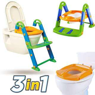 KidsKit : 3 in 1 Toilet Potty Training Seat with Ladder Step