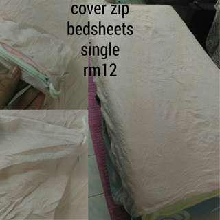 Mattress bedsheets size single, cover zip/fitted