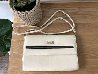 Kate Hill Cream Leather Bag