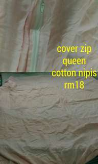 bedding comforter cover, size queen/king