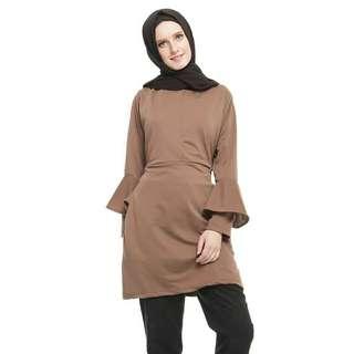 Sale 50% mybamus handbell tunik mocca baju butik branded baju wanita murah berkualitas