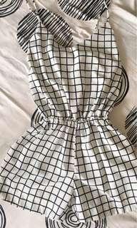 Checkered Romper