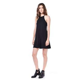 TEM Febe Racerback Ribbed Dress (Black)