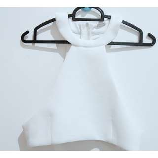 halter neck white colour