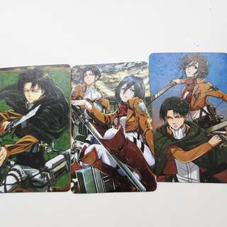 FREE Anime Attack On Titan Card Sticker #50under