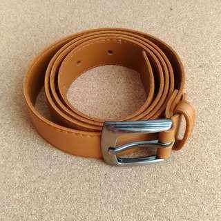Tan Brown Basic Belt