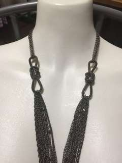 Necklace - twisted metal multi layer