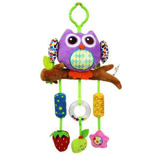 Brand New Happy Monkey Purple Owl Wind Chime Hanging Toy