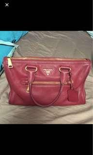 9成新 Prada red handbag 紅色手袋 90% new
