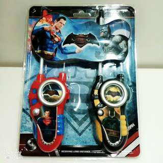 Superhero Mini Wireless Walkie Talkie - Batman & Superman
