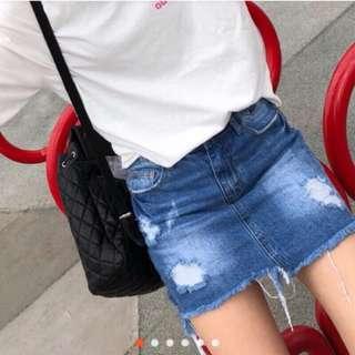 🚚 Hachu 牛仔褲裙 99%new