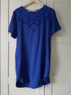 Cobalt blue shift dress