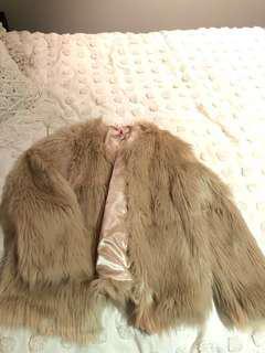 Fur coat soft brown