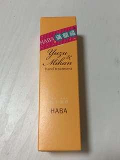 HABA Yuzu & Mikan hand treatment 120g 全新